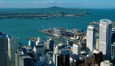 Juin 2008 - Vue de Auckland en Nouvelle-Zélande.