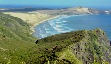 Juin 2008 - Cap reinga, la pointe nord de la Nouvelle-Zélande.
