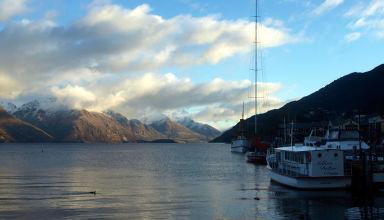 Juin 2008 - Excursion en bateau aux environs de Queenstown en Nouvelle-Zélande.